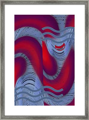 Framed Print featuring the digital art Dreaming Clown by Ben and Raisa Gertsberg
