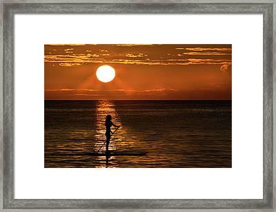 Dreaming Framed Print by Debra and Dave Vanderlaan