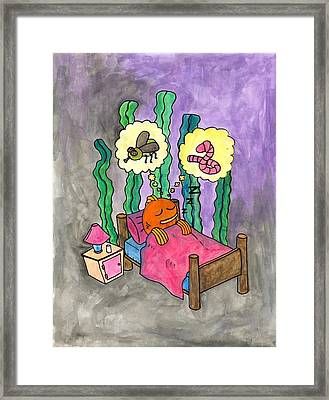 Dreaming Fish Framed Print by Jessica Kauffman