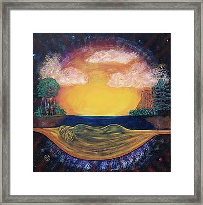 Dreaming Goddess Framed Print by Eric Singleton
