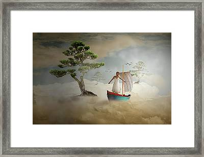 Framed Print featuring the digital art Dreaming High by Nathan Wright