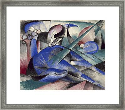 Dreaming Horse Framed Print by Franz Marc