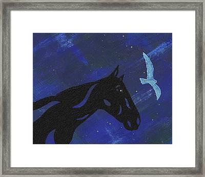 Dreaming Horse Framed Print