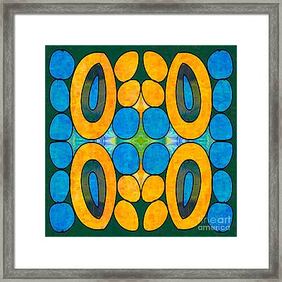 Dreaming In Circles Abstract Hard Candy Art By Omashte Framed Print by Omaste Witkowski