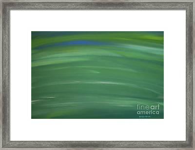 Floating In Green Framed Print