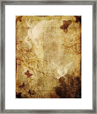 Dreaming In The Fairies' World Framed Print by Emma Alvarez