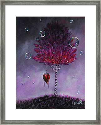 Dreaming Is Beautiful - Pink Tree Painting Framed Print