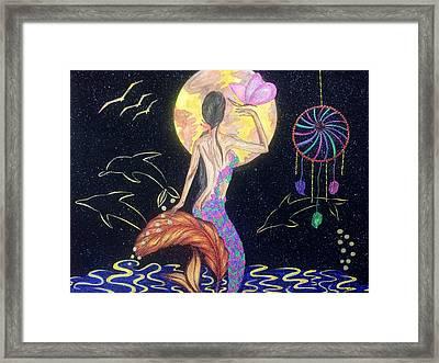 Dreaming Mermaid Framed Print