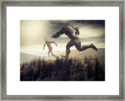 Framed Print featuring the digital art Dreaming Of A Nameless Fear by John Alexander