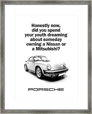 Dreaming Of A Porsche Framed Print