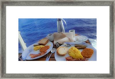 Framed Print featuring the photograph Dreaming Of Breakfast At Sea by DigiArt Diaries by Vicky B Fuller