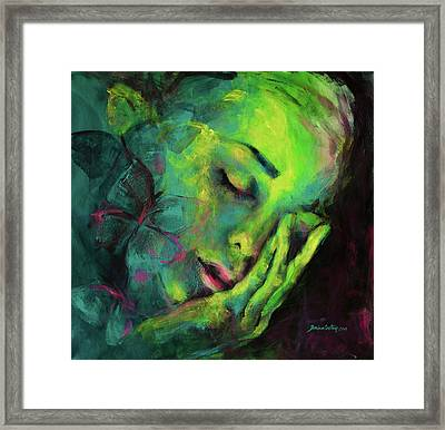 Dreaming Of Butterflies Framed Print by Dorina Costras