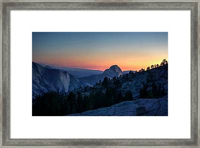 Framed Print featuring the photograph Dreaming Of Climbing Half Dome by Peter Thoeny