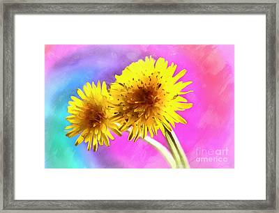 Dreaming Of Dandelions Framed Print by Krissy Katsimbras