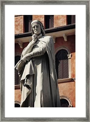 Dreaming Of Dante Verona Italy Framed Print by Carol Japp