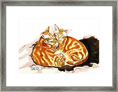 Dreaming Of Ginger - Orange Tabby Cat Painting Framed Print