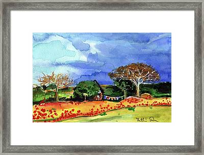 Framed Print featuring the painting Dreaming Of Malawi by Dora Hathazi Mendes