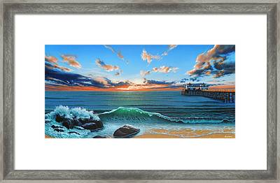 Dreaming Of Malibu Beach Framed Print by Ross Edwards