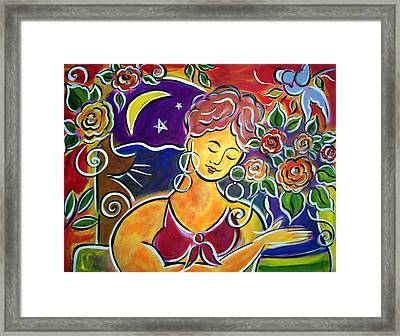 Dreaming Of My Garden In Mexico Framed Print