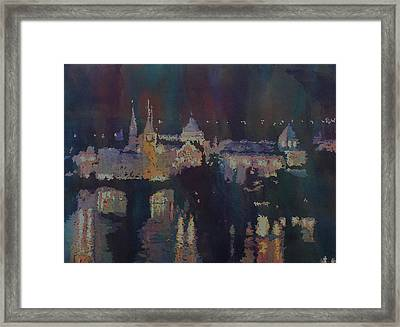 Dreaming Of Prague Framed Print by Jenny Armitage
