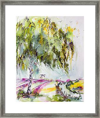 Framed Print featuring the painting Dreaming Of Provence by Ginette Callaway