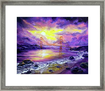 Dreaming Of San Francisco Framed Print by Laura Iverson