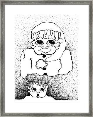 Dreaming Of Santa Framed Print by Joy Bradley
