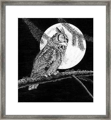 Dreaming Of The Night Framed Print