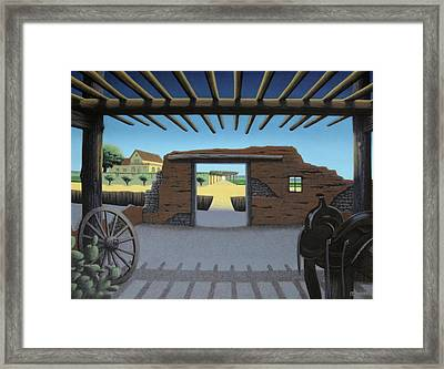 Dreaming Of The Way Out Framed Print