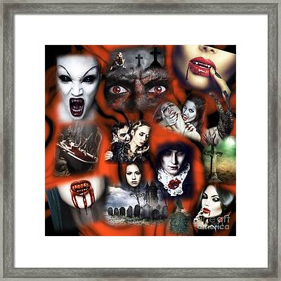 Dreaming Of Vampires Framed Print by John Rizzuto