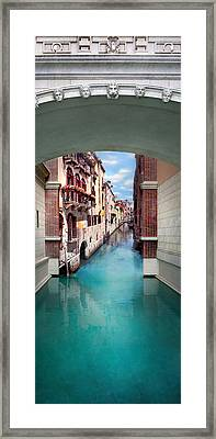 Dreaming Of Venice Vertical Panorama Framed Print by Az Jackson
