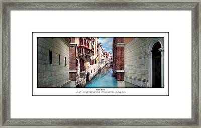 Dreaming Of Venice Poster Print Framed Print by Az Jackson