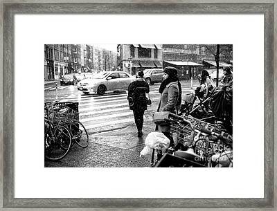 Dreaming Of Winter Framed Print by John Rizzuto