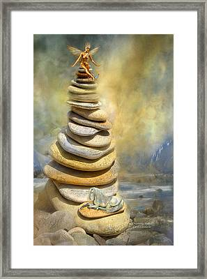 Dreaming Stones Framed Print by Carol Cavalaris