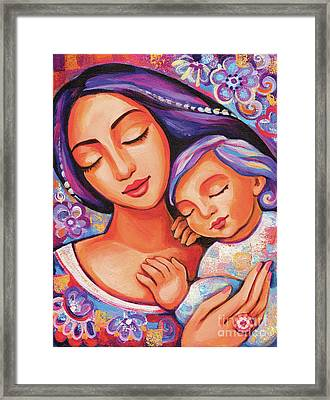 Dreaming Together Framed Print by Eva Campbell