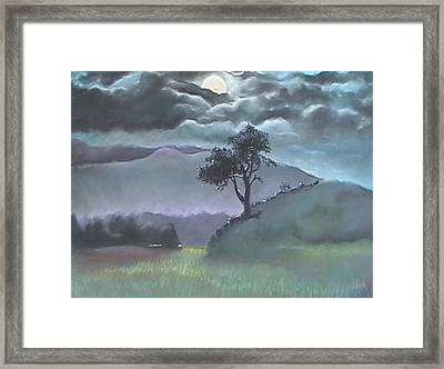 Dreaming Tree Framed Print by Beth Okonczak