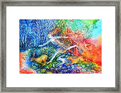 Dreaming With Hares Framed Print