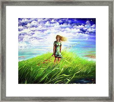 Dreaming With My Daughter Framed Print
