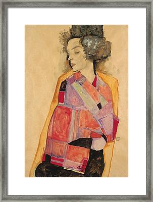 Dreaming Woman Framed Print by Egon Schiele