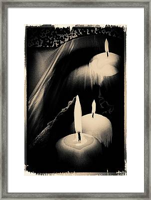 Dreams And Candlelight Framed Print by Gerlinde Keating - Galleria GK Keating Associates Inc