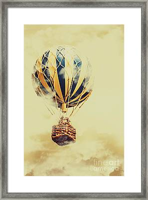 Dreams And Clouds Framed Print