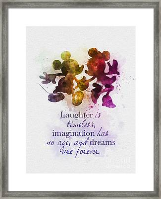 Dreams Are Forever Framed Print by Rebecca Jenkins