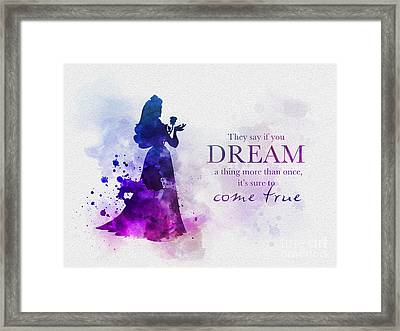 Dreams Can Come True Framed Print by Rebecca Jenkins