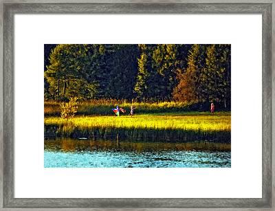 Dreams Can Fly Impasto Framed Print by Steve Harrington
