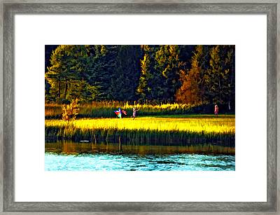 Dreams Can Fly Paint Framed Print by Steve Harrington