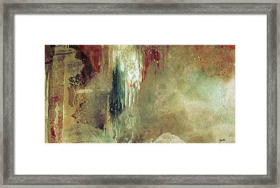 Dreams Come True - Earth Tone Art - Contemporary Pastel Color Abstract Painting Framed Print