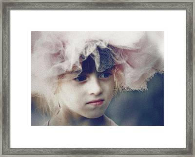 Dreams In Tulle 2 Framed Print by Marna Edwards Flavell