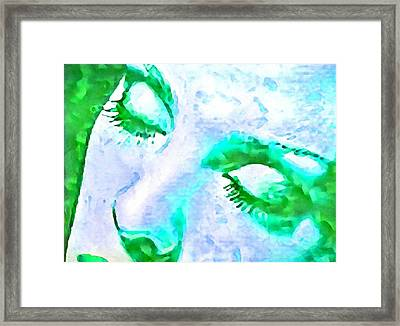 Woman Dreaming Framed Print