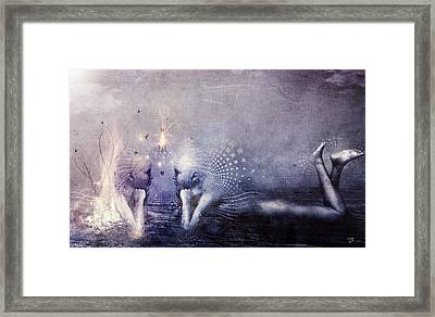 Dreams Of A Scorpion Heart Framed Print by Cameron Gray