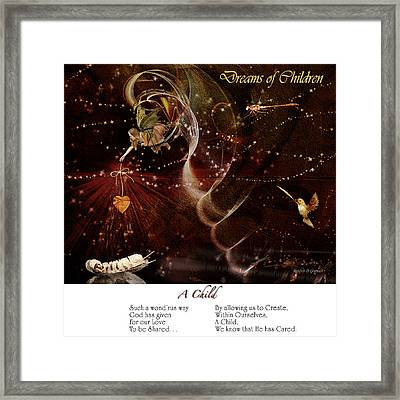 Framed Print featuring the digital art Dreams Of Children by Rhonda Strickland